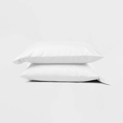 Standard 300 Thread Count Temperature Regulating Solid Pillowcase Set White - Casaluna™