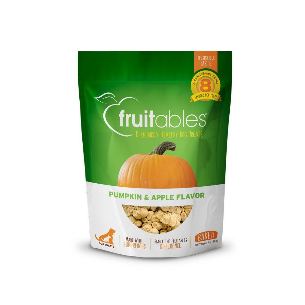 Fruitables Crunchy Dog Treats Pumpkin 38 Apple 7oz
