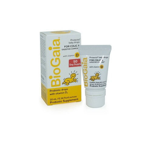 BioGaia Protectis Probiotic Baby Drops with Vitamin D3 - 0.34 fl oz - image 1 of 4