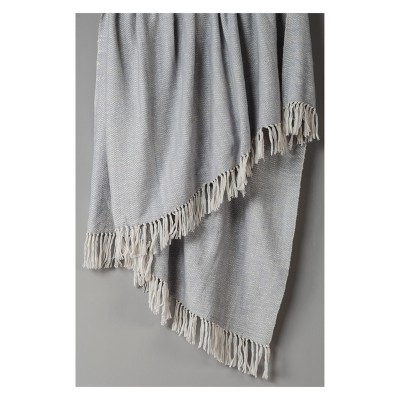 Throw Blankets 50 X60  Silver - Rizzy Home