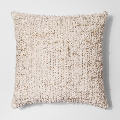 Cream Tufted Metallic Oversize Throw Pillow - Project 62™