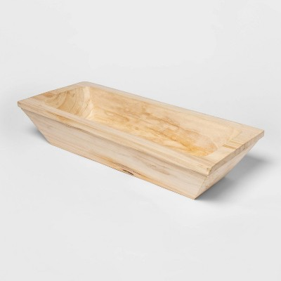 23.8  x 11  Wooden Rectangle Bowl Natural - Threshold™