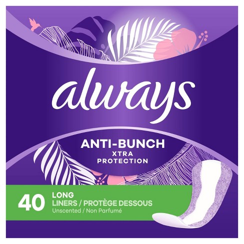 Always Dailies Xtra Protection Long Panty Liners - Unscented - image 1 of 4