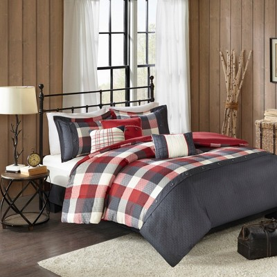 6pc Warren Herringbone Duvet Cover Set