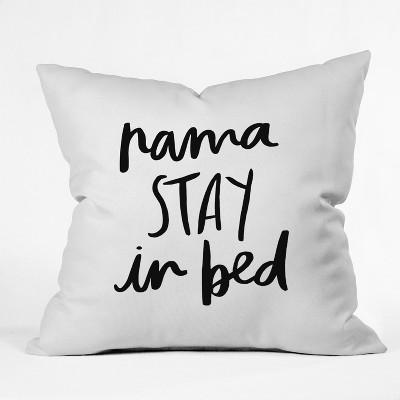 "20""X20"" Chelcey Tate Nama Stay In Bed Throw Pillow Black   Deny Designs by Deny Designs"