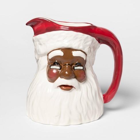 """8.2"""" x 6.1"""" Ceramic Santa Claus Pitcher - Threshold™ - image 1 of 1"""