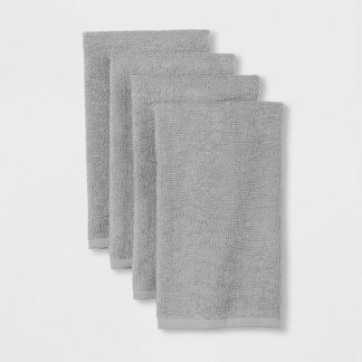4pk Kitchen Towel Gray - Room Essentials™