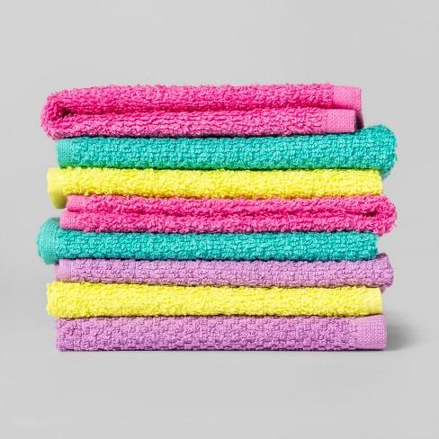 Washcloth Set Pink/Blue/Yellow - Pillowfort™ - image 1 of 1
