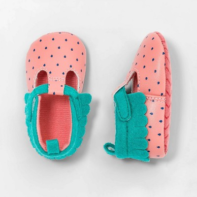 Baby Girls' Strawberry Shoes - Cat & Jack™ Pink 3-6M