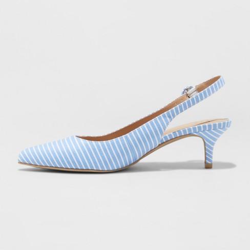 5878a0fc57 Women's Meghan Wide Width Kitten Heel Pumps - A New Day™ Blue 9.5W ...