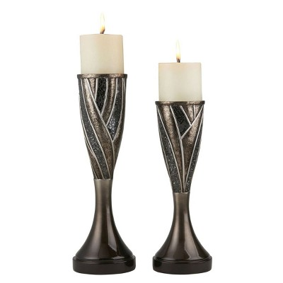 "Ok Lighting 12"" & 14""H Lelei Candleholder Set (Candles Included)"