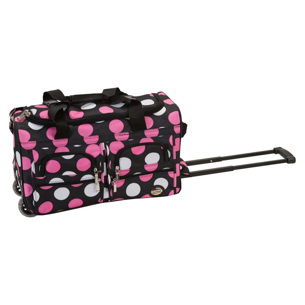 Rockland 22 Rolling Duffel Bag - New Multi Pink Dot