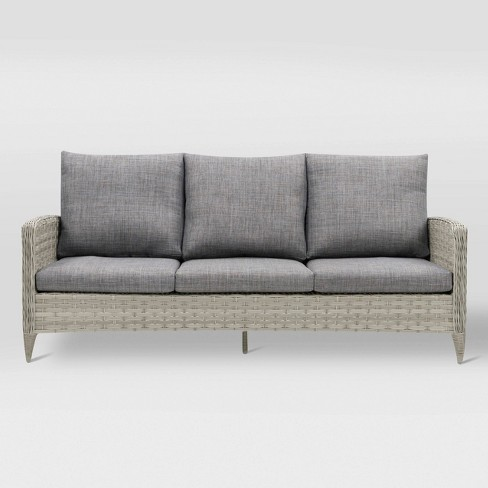 Parkview Patio Sofa - Light Gray - CorLiving - image 1 of 6