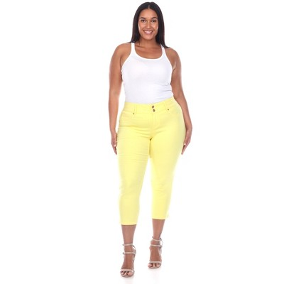 Women's Plus Size Capri Jeans - White Mark