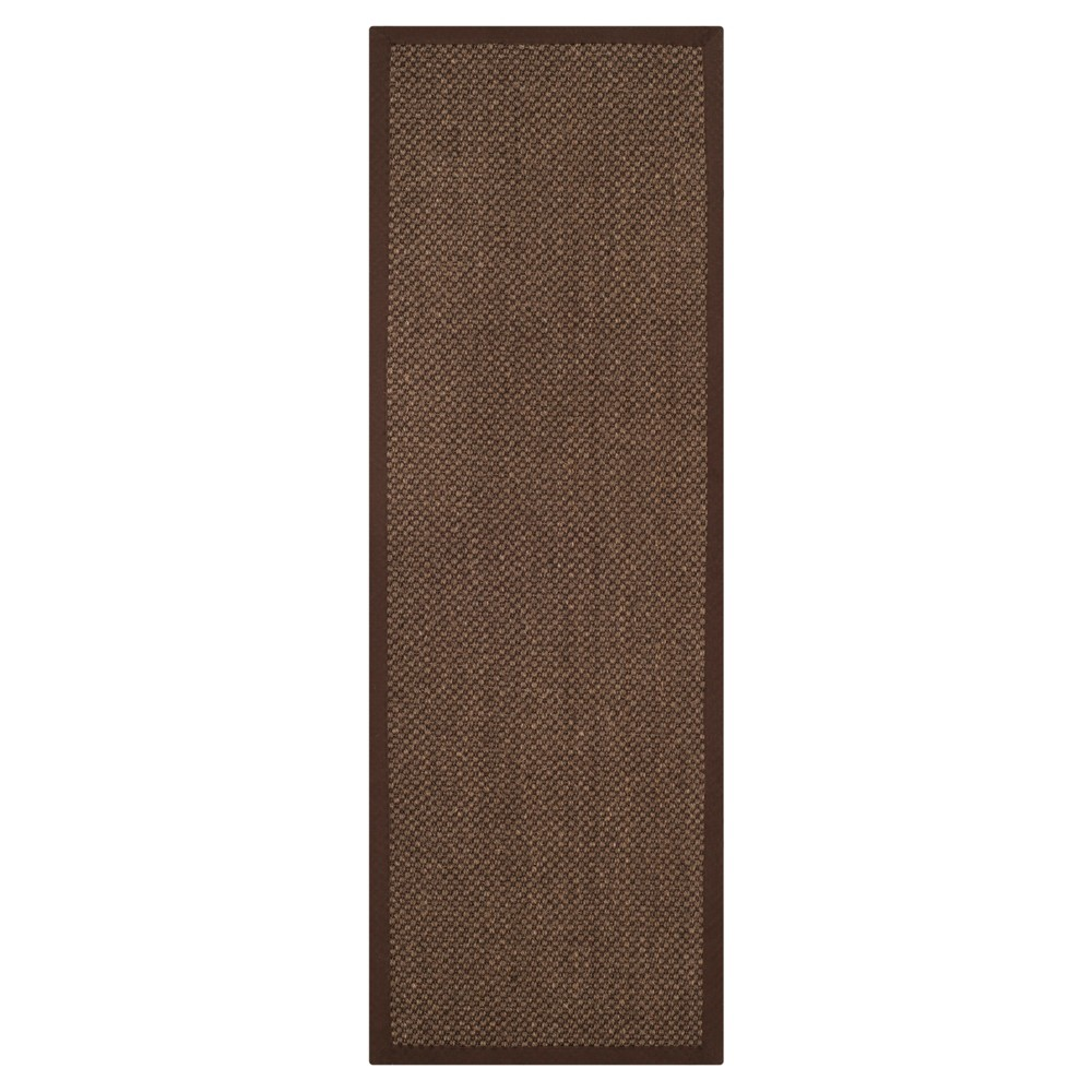 2'6x16' Solid Woven Runners Brown - Safavieh