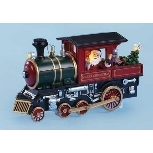 Christmas Train.Roman 10 Amusements Lighted Animated Musical Merry Christmas Train Engine With Santa