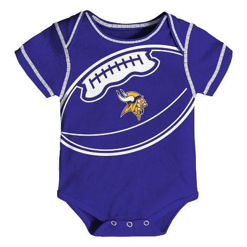 1a4614d2 Minnesota Vikings Baby Boys' Awesome Football Fan 3pk Bodysuit Set - 0-3 M