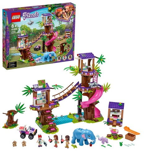 LEGO Friends Jungle Rescue Base Animal Toy Featuring a Jungle Tree Sanctuary 41424 - image 1 of 4