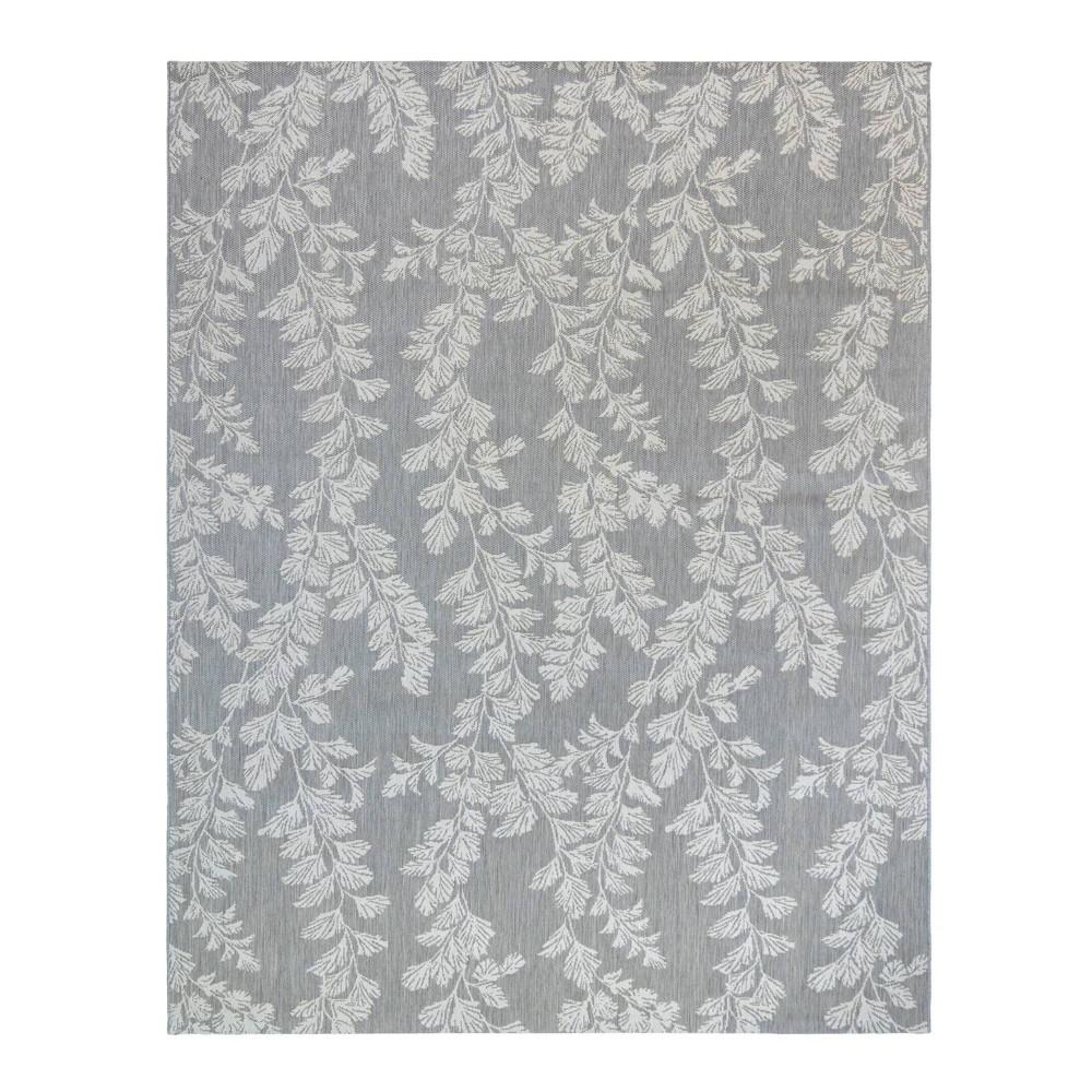Image of 5'x7' Waxham Outdoor Rug Gray - Laura Ashley