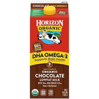 Horizon Organic 1% Chocolate Milk with DHA Omega-3 - 0.5gal