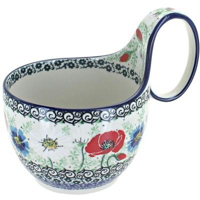 Blue Rose Polish Pottery Summer Dawn Soup Mug