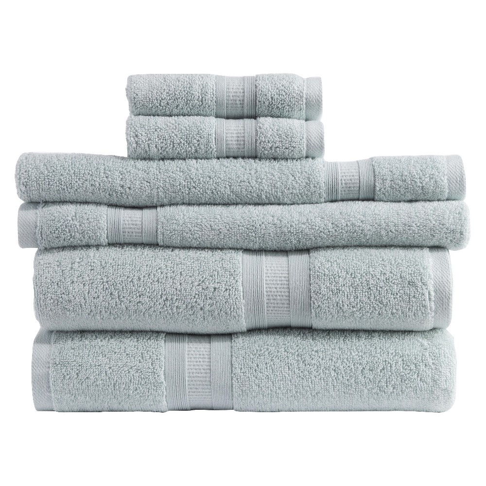 Image of Micro Cotton Aertex 6-pc. Towel Set - Sea Glass (Blue)