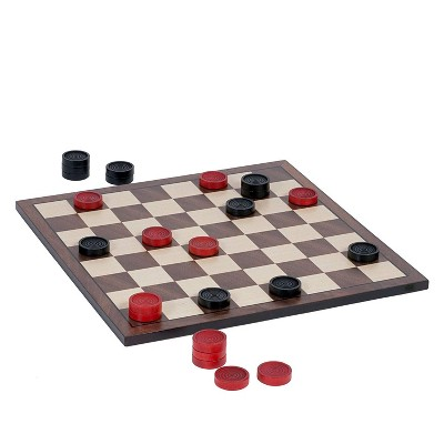 WE Games Old School Red and Black Wooden Checkers Set -11.75 in.