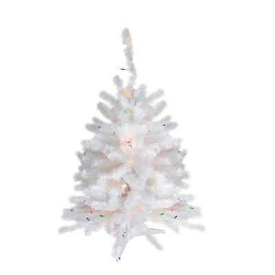 Northlight 3' Pre-Lit Snow White Artificial Christmas Tree - Multi Lights