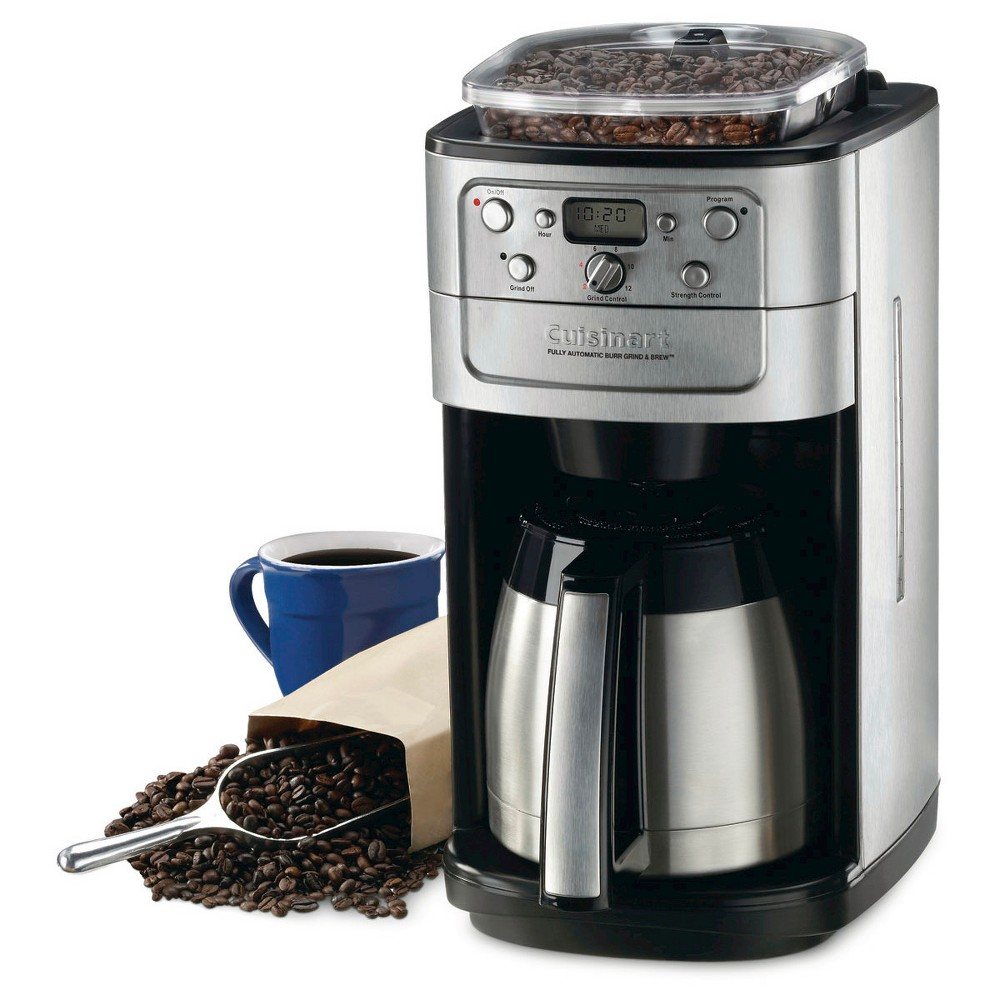 Cuisinart Grind & Brew 12 Cup Coffee Maker – Brushed Chrome Dgb-900BC, Black/Grey 21398029