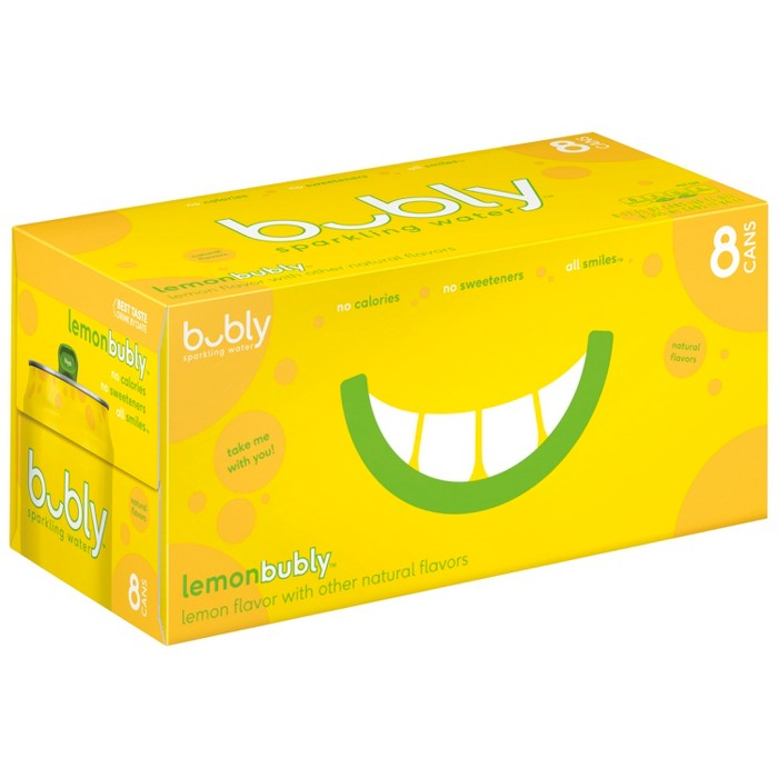 bubly Lemon Sparkling Water - 8pk/12 fl oz Cans - image 1 of 5