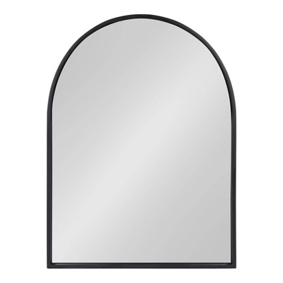 "24"" x 32"" Valenti Framed Arch Mirror Black - Kate and Laurel"