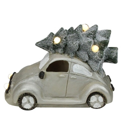 "Northlight 13.5"" Lighted and Musical Vintage Beetle with Christmas Tree Decoration - image 1 of 2"