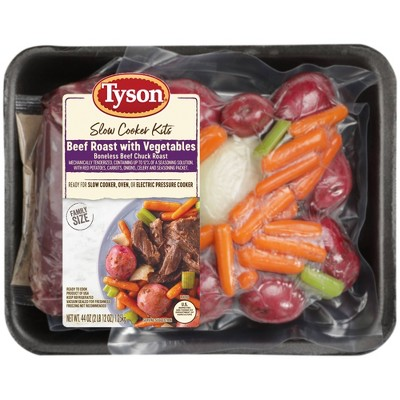 Tyson Beef Roast and Vegetable Slow Cooker Kit - 44oz