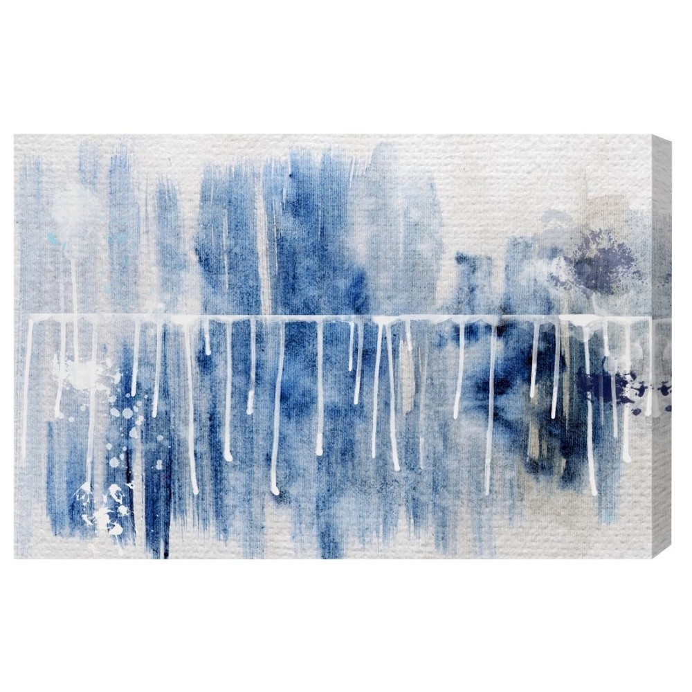 "Image of ""Oliver Gal Unframed Wall """"Path to You"""" Canvas Art (24x16), Blue White"""