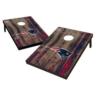 NFL New England Patriots Wild Sports 2'x3' Barnwood Bean Bag Toss