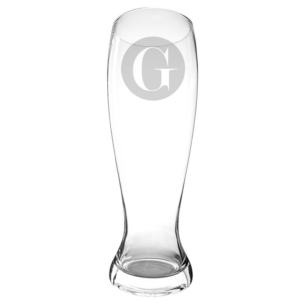 Monogram 54 oz. Novelty Groomsmen Gift Beer Pilsner Glass XL Drinkware - G, Clear - G