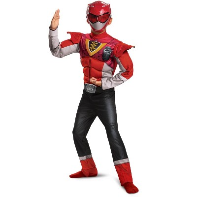 Power Rangers Red Ranger Power Up Mode Classic Muscle Child Costume