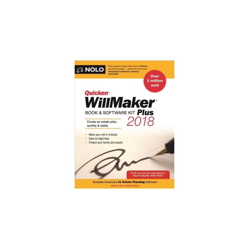 Quicken Willmaker Plus 2018 : Book & Software Kit - (Quicken Willmaker) (Paperback)