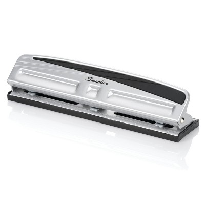 Swingline® 3 Hole Punch, 10 Sheet Capacity - Silver/Black