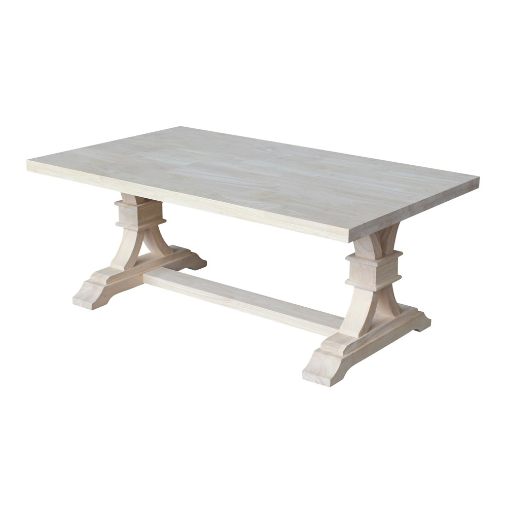 "Image of ""20"""" Paige Coffee Table Unfinished - International Concepts, Brown"""