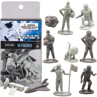 Hingfat Wicked Duals Mini Astronaut Figure Toy Playset, 10 Pieces