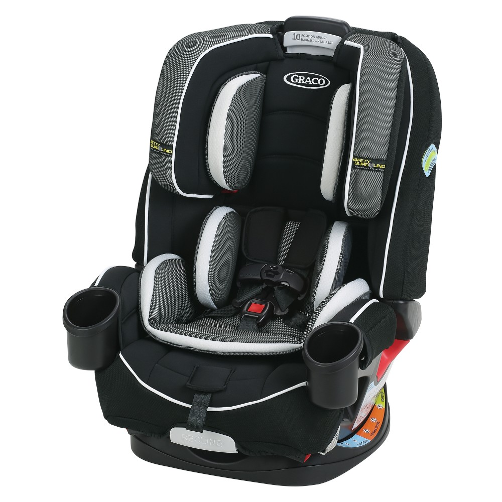 Image of Graco 4-Ever All-In-One Convertible Car Seat - Jacks, Black