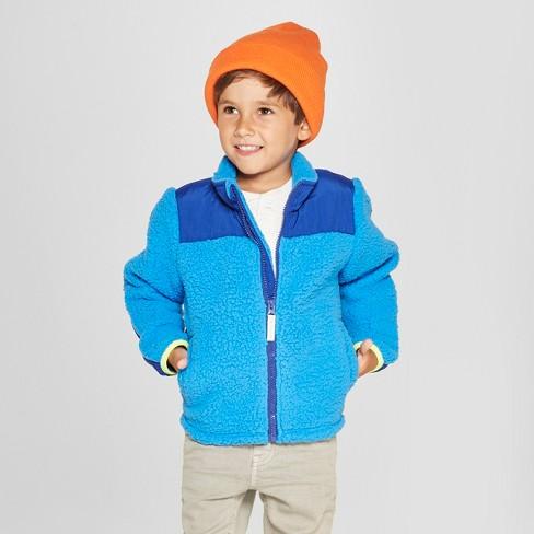 3bd0c50ede3e Toddler Boys  Zip-Up Fleece Jacket - Cat   Jack™ Blue   Target