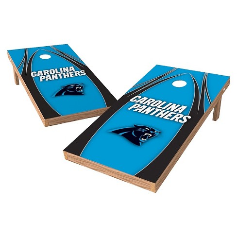Fantastic Carolina Panthers Wild Sports Xl Shield Logo Cornhole Bag Toss Set 2X4 Ft Dailytribune Chair Design For Home Dailytribuneorg
