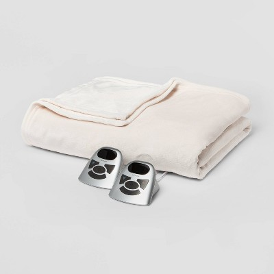 Electric Solid Microplush Bed Blanket - Threshold™