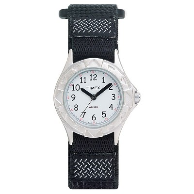 Kid's Timex Watch with Fast Wrap Nylon Strap - Black T79051XY