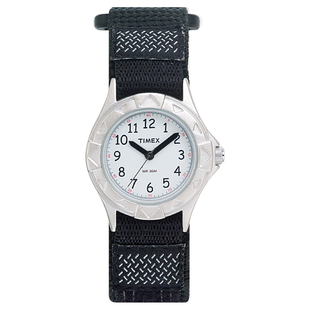 Image of Kid's Timex Watch with Fast Wrap Nylon Strap - Black T79051XY, Adult Unisex, Size: Small