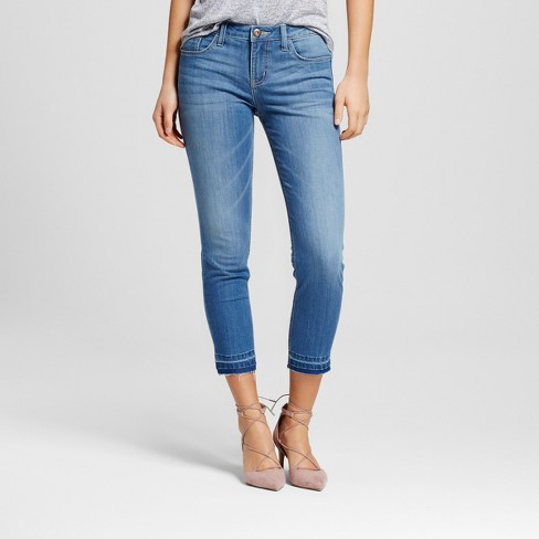 Women's Tacoma Released Hem Skinny Crop Jeans - Crafted by Lee® - image 1 of 6