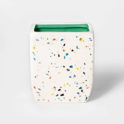 Splatter Print Square Planter White/Blue - Sun Squad™