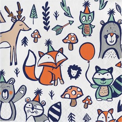 20ct Woodland Printed Paper Napkins - Spritz™